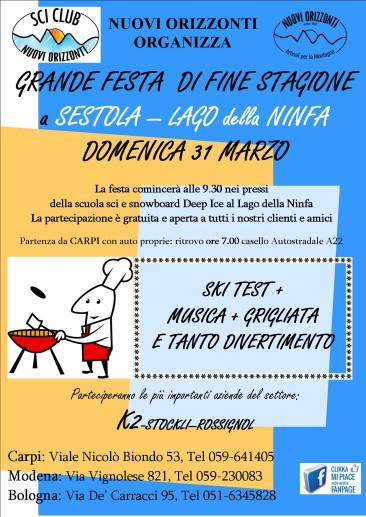 GRANDE FESTA DI FINE STAGIONE CON GRIGLIATA!!
