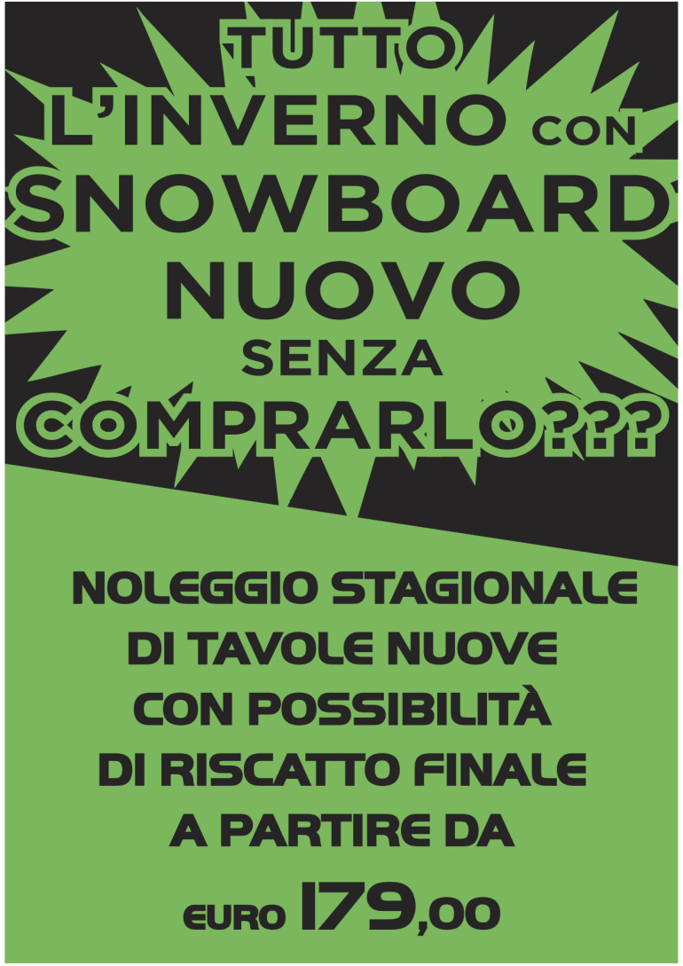 NOLEGGIO SNOWBOARD